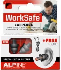 Witte Alpine Hearing protection Alpine WorkSafe - Klus oordoppen - Voorkomt gehoorschade - Zwart - SNR 23 dB - 1 paar