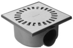 Roestvrijstalen Easy Drain Aqua Compact Doucheput met waterslot 50 mm 15x15 cm RVS