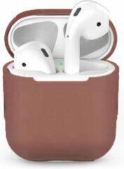 Teishop Siliconen case geschikt voor Apple Airpods - Bruin