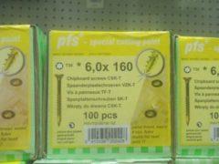 PGB Europe Spaanderplaatschroef Geel verzinkt   Torx   6.00x160   Ged. draad   100 stuks
