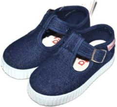 Blauwe Cienta - Canvas kinderschoen - denim