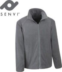 Antraciet-grijze Senvi Basic Fleece Vest - Thermisch laag microfleece - Kleur Antraciet- Maat M