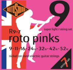 Rotosound R9-7 Roto Pinks set gitaarsnaren 009 - 052w