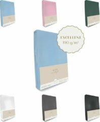 Lichtblauwe Sleep in Style Excellent Jersey Hoeslaken voor matras 70x160 -70x180cm (t/m 15 cm hoekhoogte) 190 grams/m2 kwaliteit kleur Licht Blauw en OEKO-TEX 100 certifieert