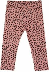 R Rebels | Katoenen baby legging | Roze Panterprint | Maat 116