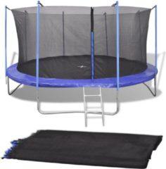 VidaXL Veiligheidsnet voor 3.96 m ronde trampoline PE zwart