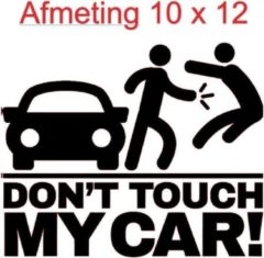 Zwarte Debrocanterievriescheloo Auto sticker don`t touch my care