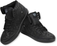 Zwarte Cash Money Cash M Heren Schoenen - Heren Sneaker High - Army Full Black - Maten: 41