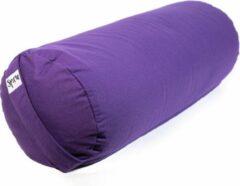 Paarse Spiru Bolster Rond Katoen – Groot – Violet