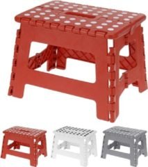 Rode Excellent Houseware Inklapbaar Krukje- Opstapkruk - Opstapje| Opvouwbaar - 22 cm Kleur: assortie