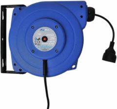 Blauwe ProPlus kabelhaspel 15 meter 230 Volt 2750 Watt blauw