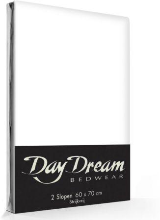 Afbeelding van Day Dream - Kussenslopen - Strijkvrij - Katoen - 60 x 70 - Wit - set van 2