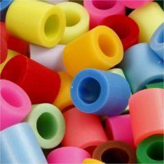 Creotime Strijkkralen, afm 10x10 mm, kleuren assorti, jumbo, 2450 assorti