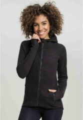 Urban Classics Vest met capuchon -XS- Polar Fleece Zwart