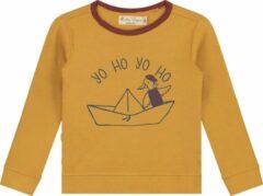 Goudkleurige Smitten Organic 'yo Ho yo Ho' T-Shirt - Maat 140