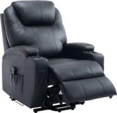HOMCOM Elektrischer Fernsehsessel Aufstehsessel Relaxsessel Sessel mit Aufstehhilfe Relaxsessel Aufstehsessel Ledersessel Sofastuhl