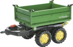 Groene Rolly Toys aanhanger RollyMega junior groen/geel
