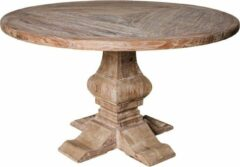 PTMD COLLECTION PTMD Iepen houten tafel 180cm rond wit