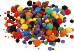 Creotime Pom-Poms, d: 5-40 mm, 150 assorti
