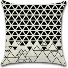 Witte By Javy Grafisch - Rocky - Kussenhoes - 45x45 cm - Sierkussen - Polyester