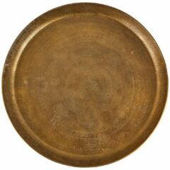Goudkleurige Xenos Decoratieplateau reliëf - antiek goud - Ø29 cm