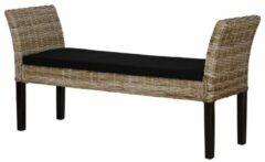 Bruine Perfecthomeshop Rotan bankje 76x150 cm – Comfortabel Design – Unieke Vintage Look