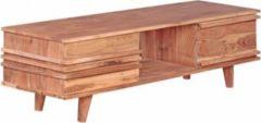 Wohnling Lowboard KADA Massivholz Akazie Kommode 145 cm TV-Board Ablage-Fach Landhaus-Stil Unterschrank 41 cm TV-Möbel