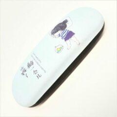 Lichtblauwe Merkloos / Sans marque Brillenkoker - Brillendoos Japanse Little Girl