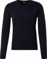 Marineblauwe TOM TAILOR Eenvoudige gebreide trui, Knitted Navy Melange, M
