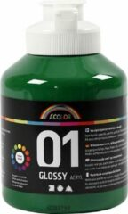 Creativ company A-color Glossy acrylverf, donkergroen, 01 - glossy, 500 ml