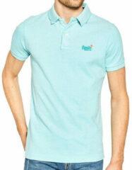 Blauwe Polo Shirt Korte Mouw Superdry