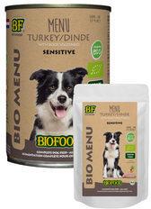 Biofood organic hond kalkoen menu pouch hondenvoer 150 gr