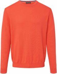 Trui van 100% Pima Cotton met ronde hals Van Louis Sayn oranje