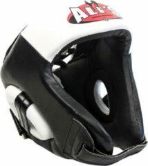Ali's fightgear hoofdbeschermer boksen zwart met wit - S