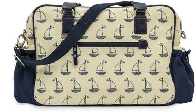 Afbeelding van Creme witte PINK LINING - Luiertas / Verzorgingstas - Not So Plain Jane - Navy & Cream Boats
