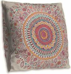 Roze Cusco Mandala kussenhoes – DUBBELZIJDIG BEDRUKT - Soft Touch – 45 x 45 cm
