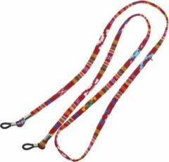 Fako Bijoux® - Brillenkoord - Inka - 70cm - Donkerrood