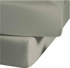 Zilveren Senza Donna 180 GSM Hoeslaken Grijs - 180x220+35 cm
