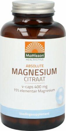 Afbeelding van Mattisson Active Magnesium Citraat 400 Mg (180vc)