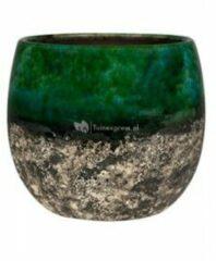 Ter Steege Pot Lindy groen Black donkergroene ronde bloempot voor binnen 19 cm