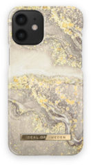 IDeal of Sweden Fashion Backcover iPhone 12 Mini hoesje - Sparkle Greige Marble