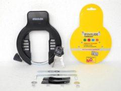 Stahlex Ringslot Fietsslot beugel Ø 8,5mm binnenruimte 5,5 x 9,5cm met Bevestigingsmateriaal Frameslot zwart