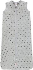 Licht-grijze CottonBaby Slaapzak 80 cm. - driehoek zwart/grijs