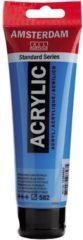 Blauwe Royal Talens Standard tube 120 ml Mangaanblauw phthalo halftransparante acrylverf mangaan blauw