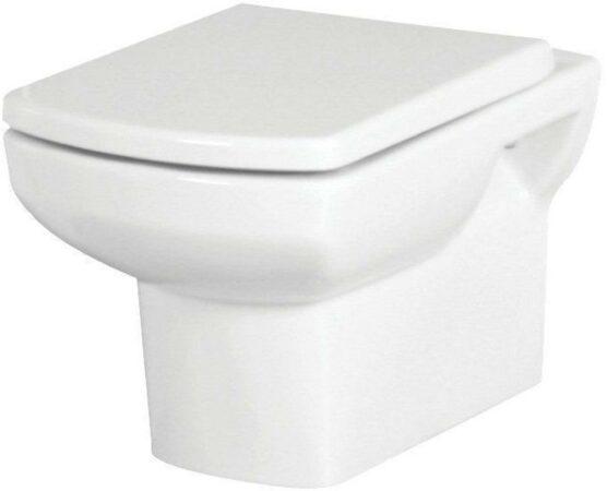 Afbeelding van Badstuber Nero wand toilet inclusief toiletzitting