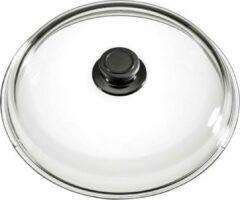 Roestvrijstalen Eurolux by Solinger Eurolux glazen deksel met knop 28 cm