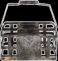 Clayre & Eef Wijnrek 6Y2563 30*20*15/31 cm Zwart Metaal Flessenrek Flessenhouder
