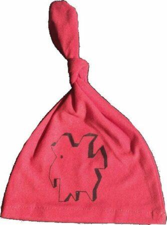 Afbeelding van Anha'Lore Designs - Weezel - Babymuts - Rood/zwart