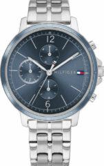 Tommy Hilfiger TH1782188 Horloge Madison staal zilverkleurig-blauw 38 mm