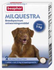 Beaphar Milquestra Hond - Anti wormenmiddel - 2 tab 5 Tot 50 Kg
